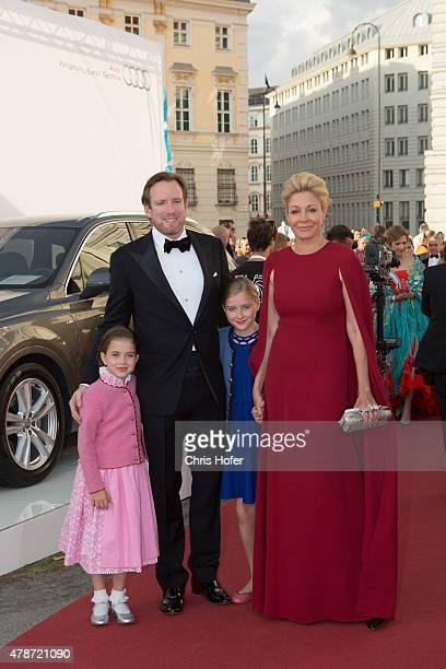Nadja Swarovski Rupert Adams and family attend the gala event 450 years Spanische Hofreitschule on June 26 2015 in Vienna Austria
