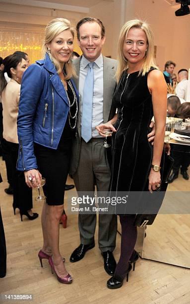 Nadja Swarovski Rupert Adams and Felicia Brocklebank attend the Swarovski Whitechapel Gallery Art Plus Opera fundraising gala in support of the...