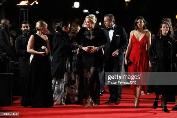 Nadja Swarovski Rupert Adams and Lilah Parsons attend The Fashion Awards 2017 in partnership with Swarovski at Royal Albert Hall on December 4 2017...