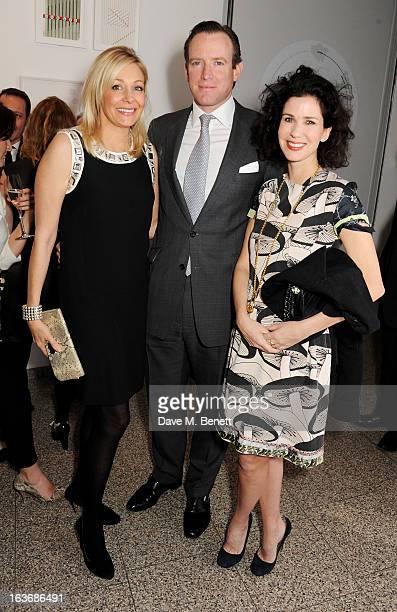 Nadja Swarovski Rupert Adams and Mollie Dent Brocklehurst attend the Swarovski Whitechapel Gallery Art Plus Fashion fundraising gala in support of...