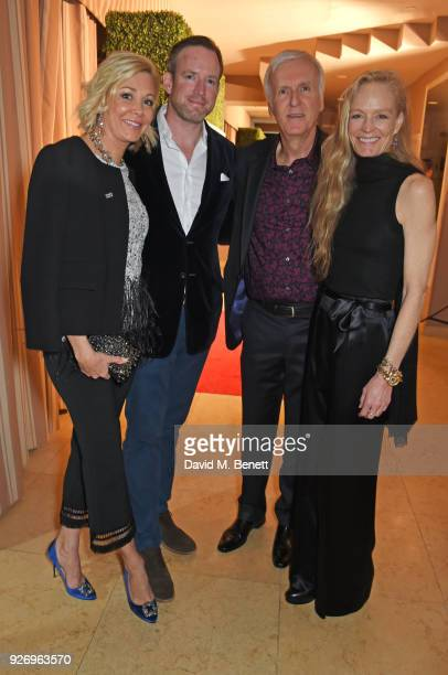 Nadja Swarovski Rupert Adams James Cameron and Suzy Amis Cameron attend the first annual gala hosted by MAISONDEMODECOM and Perrier Jouet to...