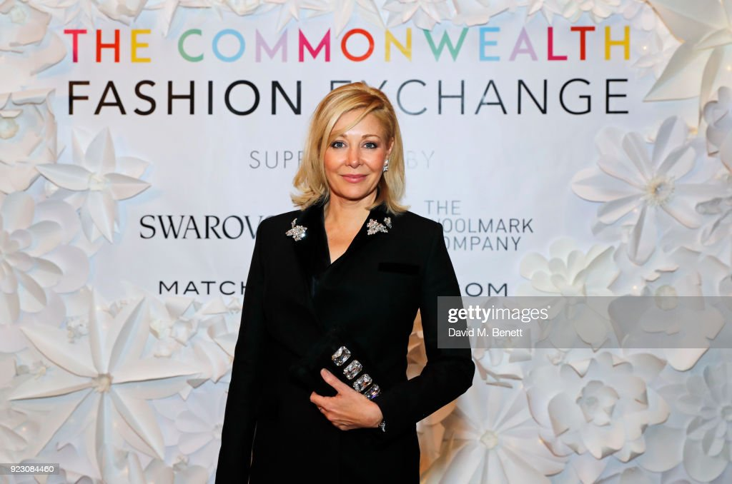 Nadja Swarovski, Swarovski Executive Board Member, attends the VIP preview of the Commonwealth Fashion Exchange exhibition at the High Commission of Australia on February 22, 2018 in London, England.