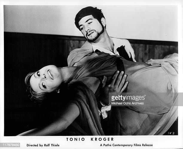 Nadja Tiller in the arms of JeanClaude Brialy in a scene from the film 'Tonio Kroger' 1968