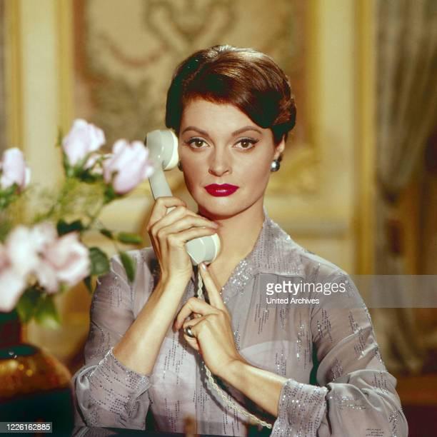 Nadja Tiller, österreichische Schauspielerin, Deutschland, circa 1958. Austrian actress Nadja Tiller, Germany, circa 1958.