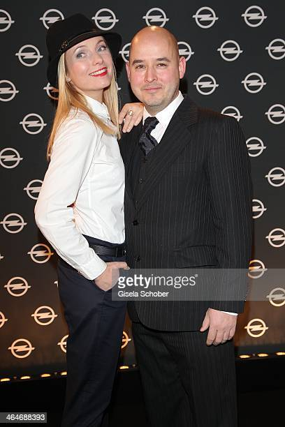 MUNICH GERMANY JANUARY Nadja Uhl and husband Kay Bockhold attend the presentation and vernissage of the calender THE ADAM BY BRYAN ADAMS for Opel at...