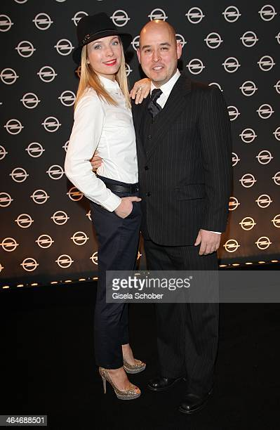 MUNICH GERMANY JANUARY Nadja Uhl and husband Kay Bockhold attend the presentation and vernissage of the calender 'THE ADAM BY BRYAN ADAMS' for Opel...
