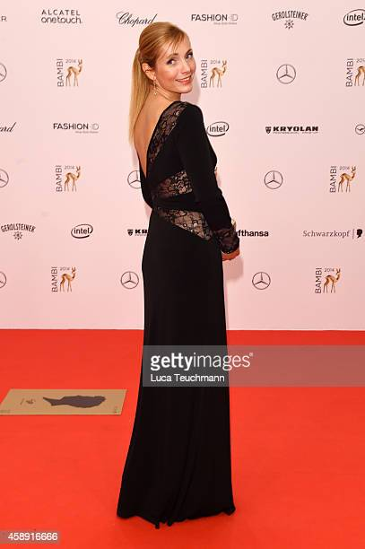 Nadja Uhl attends Kryolan at the Bambi Awards 2014 on November 13 2014 in Berlin Germany