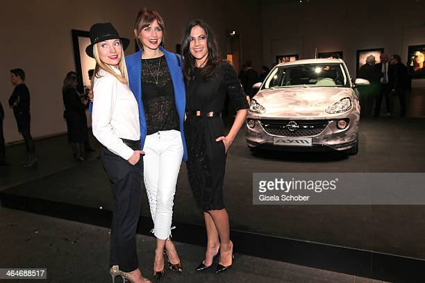 MUNICH GERMANY JANUARY Nadja Uhl Eva Padberg Bettina Zimmermann attend the presentation and vernissage of the calender 'THE ADAM BY BRYAN ADAMS' for...