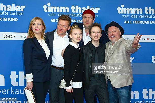 Nadja Uhl Justus von Dohnany Jule Hermann Charly Huebner Arved Friese and Axel Prahl the main cast of the movie attend the premiere of 'Timm Thaler...