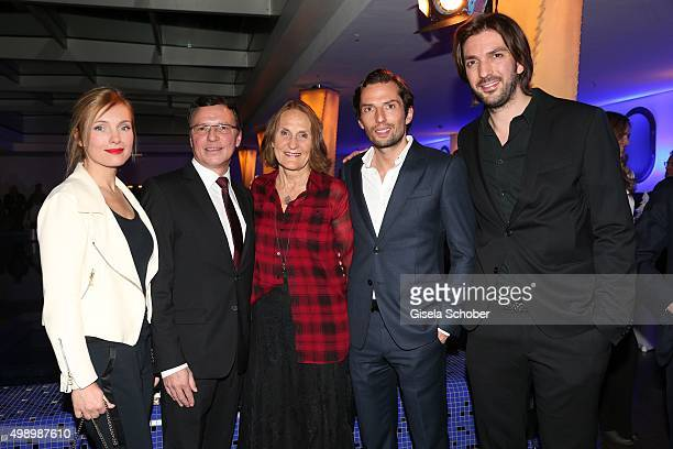 Nadja Uhl Volker Herres Gabriele Sperl Producer Quirin Berg and Max Wiedemann during the ARD advent dinner hosted by the program director of the tv...