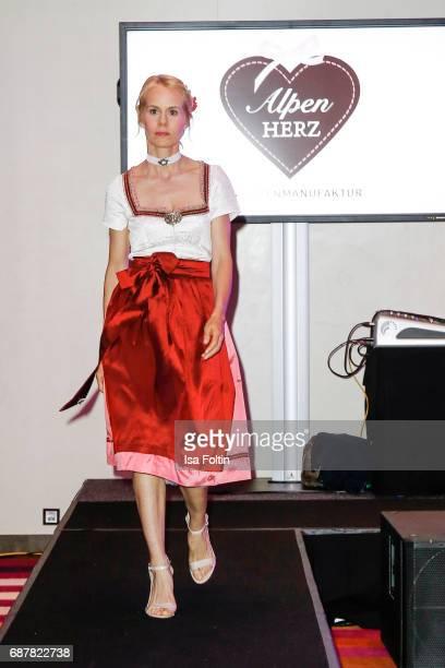 Nadja zu SchaumburgLippe walks the runway during the Kempinski Fashion Dinner on May 23 2017 in Munich Germany