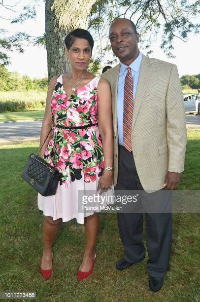 Nady Nelson and Ernest Baptiste attend the 60th Annual Summer Party For Stony Brook Southampton Hospital on August 4 2018 in Southampton New York