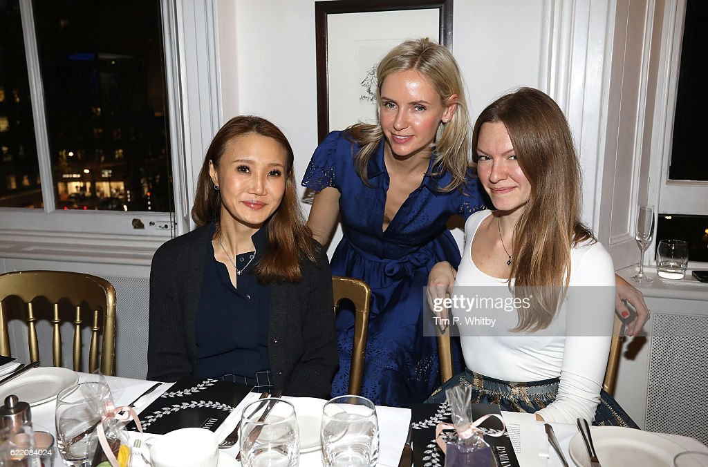 Nadya Abela (C) and guests attend an afternoon tea hosted by Damiani in aid of Nadedza Foundation at Morton's Club on November 9, 2016 in London, England.