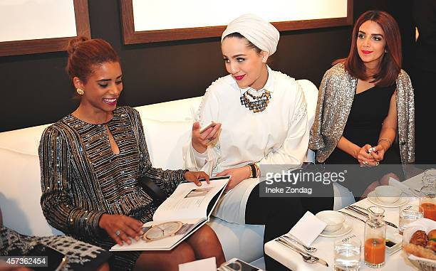Nadya Hasan Ascia AL Farraj and Zahra Lyla attend the exclusive IWC Timeless Portofino Ladies Only Fashion Dinner hosted by IWC CEO Georges Kern and...