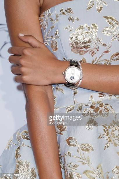 Nadya Hasan watch detail attends the sixth IWC Filmmaker Award gala dinner at the 14th Dubai International Film Festival during which Swiss luxury...