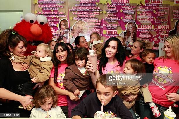 Nadya Octomom Suleman and all of her children attend Millions Of Milkshakes on November 10 2010 in West Hollywood California