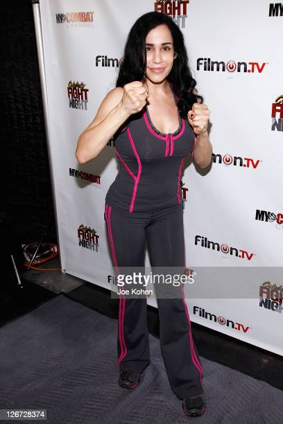 Nadya 'Octomom' Suleman attends Celebrity Fight Night Official Press Conference on September 26 2011 in Beverly Hills California