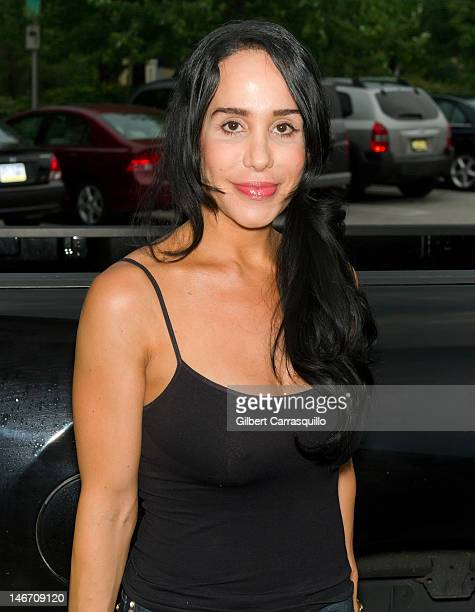 Nadya 'Octomom' Suleman attends the Celebrity Pillow Fight press conference and weigh in at Fox And Hound on June 22 2012 in King of Prussia...