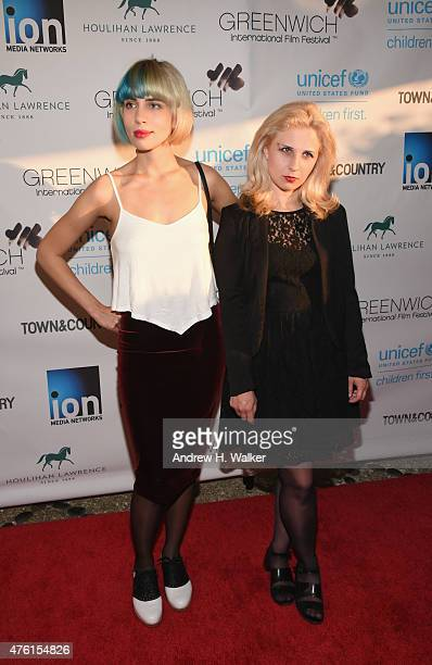 Nadya Tolokonnikova and Maria Alyokhina of Pussy Riot attend Greenwich Film Festival 2015 Changemaker Honoree Gala at L'Escale Restaurant on June 6...