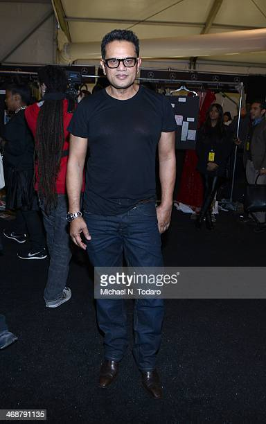 Naeem Khan attends the Naeem Khan Show during MercedesBenz Fashion Week Fall 2014 at The Theatre at Lincoln Center on February 11 2014 in New York...