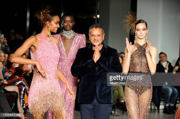 Naeem Khan walks the runway for the Naeem Khan fashion show during February 2020 New York Fashion Week The Shows on February 11 2020 in New York City