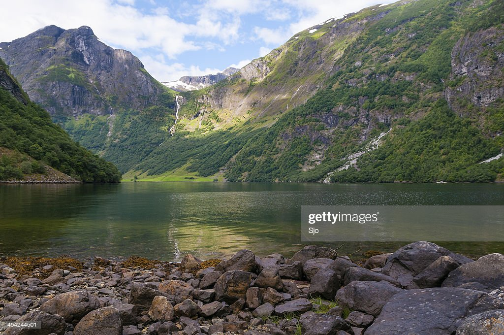 Naeroyfjord : Stock Photo