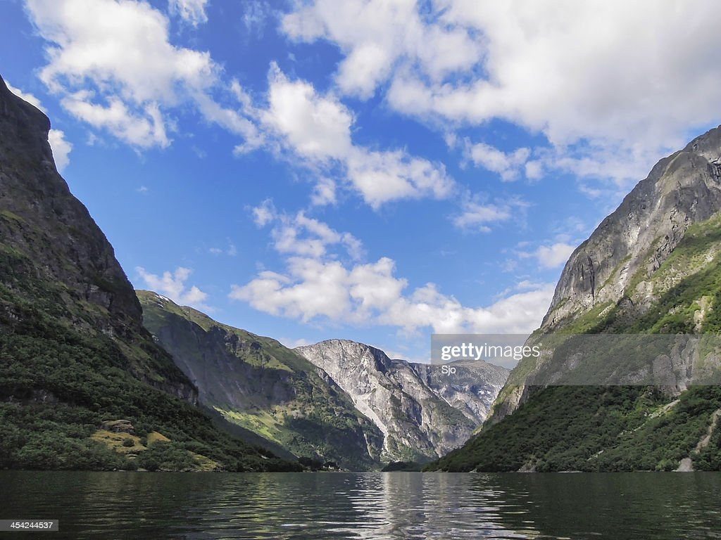 Naeroyfjord : Stock Photo