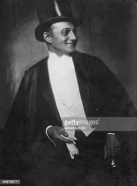 Naestelberger, Robert - Opera Singer, Actor, Austria *1887-+ - 1928 - Photographer: Edith Barakovich - Vintage property of ullstein bild