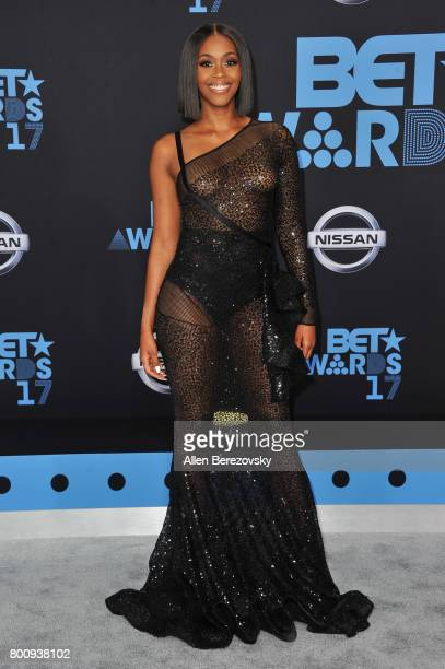 Nafessa Williams arrives at the 2017 BET Awards at Microsoft Theater on June 25 2017 in Los Angeles California