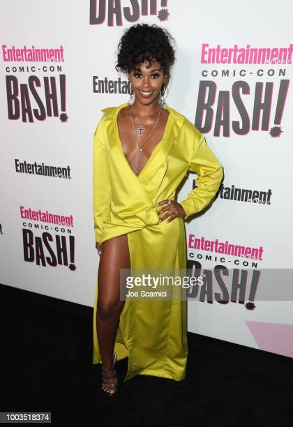 Nafessa Williams attends Entertainment Weekly's ComicCon Bash held at FLOAT Hard Rock Hotel San Diego on July 21 2018 in San Diego California...