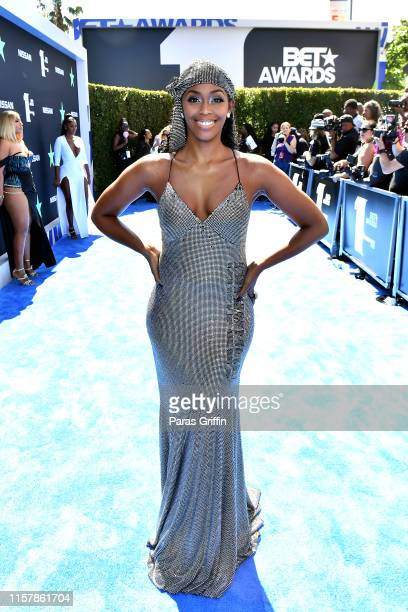 Nafessa Williams attends the 2019 BET Awards at Microsoft Theater on June 23 2019 in Los Angeles California