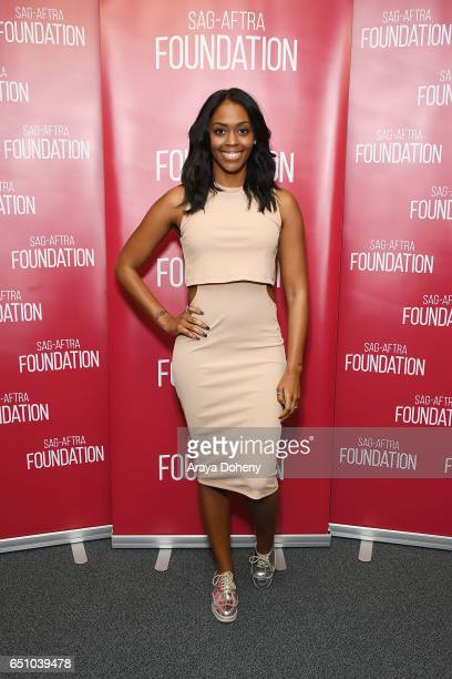 Nafessa Williams attends the SAGAFTRA Foundation's Conversations with Burning Sands at SAGAFTRA Foundation Screening Room on March 9 2017 in Los...
