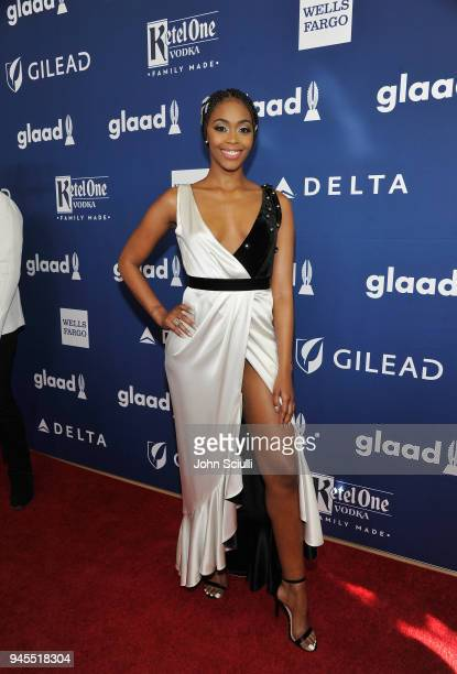Nafessa Williams celebrates achievements in LGBTQ community at the 29th Annual GLAAD Media Awards Los Angeles in partnership with LGBTQ ally Ketel...