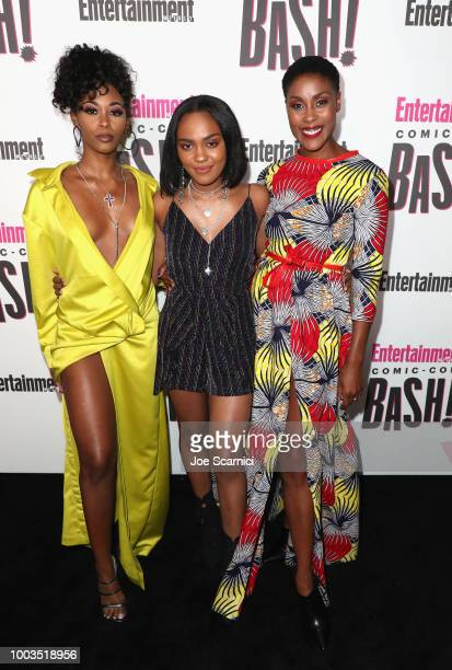 Nafessa Williams China Anne McClain and Christine Adams attend Entertainment Weekly's ComicCon Bash held at FLOAT Hard Rock Hotel San Diego on July...