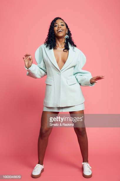 Nafessa Williams from CW's 'Black Lightning' poses for a portrait at the Getty Images Portrait Studio powered by Pizza Hut at San Diego 2018 Comic...