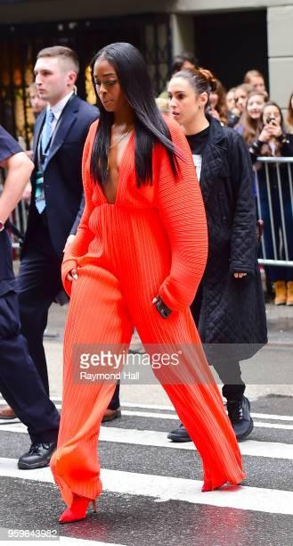 Nafessa Williams is seen walking in midtown on May 17 2018 in New York City