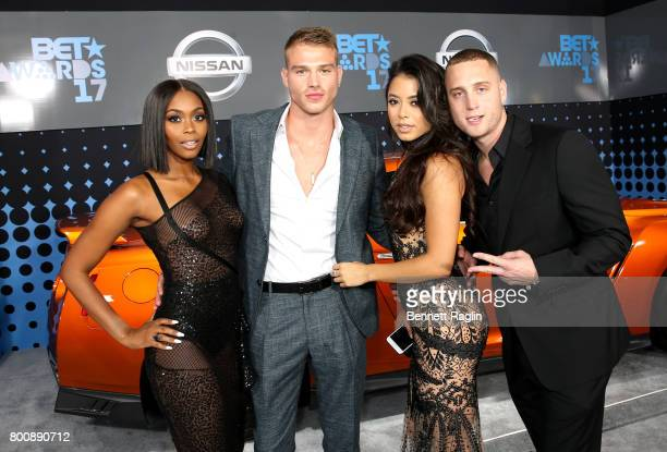 Nafessa Williams Matthew Noszka Michelle Hayden and Chet Hanks at the 2017 BET Awards at Staples Center on June 25 2017 in Los Angeles California