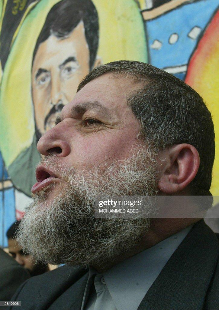Nafez Azam, an Islamic Jihad leader, spe : Nieuwsfoto's