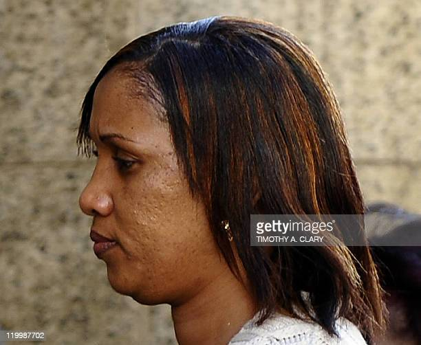 Nafissatou Diallo the hotel maid accusing French politician Dominique StraussKahn of sexual assault arrives at the office of Manhattan District...