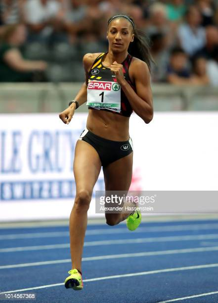 Nafissatou Thiam of Belgium competes in the Women's Heptathlon 800 metres during day four of the 24th European Athletics Championships at...