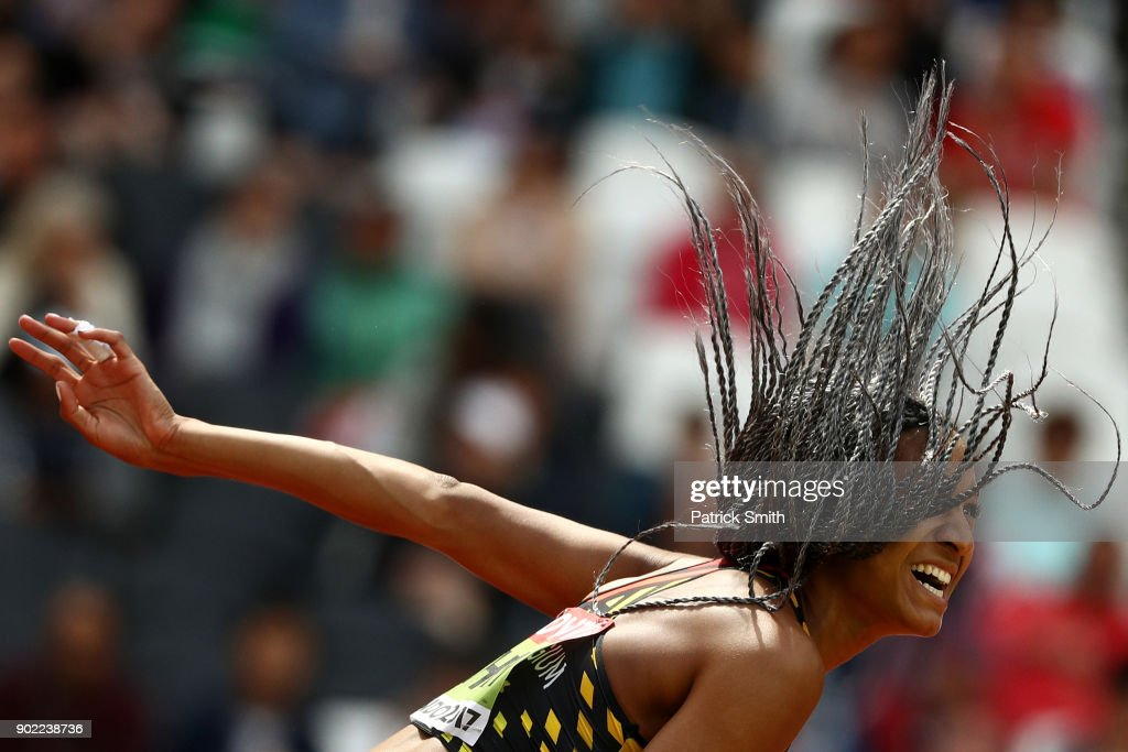Nafissatou Thiam of Belgium competes in the Women's Heptathlon Javelin during day three of the 16th IAAF World Athletics Championships London 2017 at The London Stadium on August 6, 2017 in London, United Kingdom.