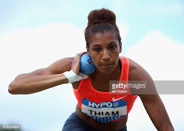 Nafissatou Thiam of Belgium competes in the Women's shot put during the women's heptathlon during the Hypo meeting Gotzis 2015 at the Mosle Stadium...