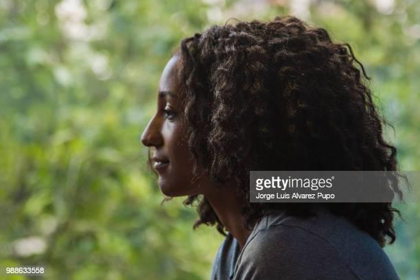 Nafissatou Thiam of Belgium looks on during the press conference of Meeting de Paris of the IAAF Diamond League 2017 at the Paris Marriot Rive Gauche...