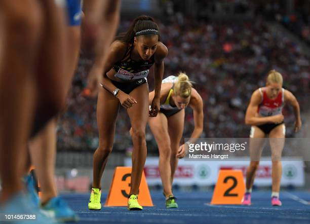 Nafissatou Thiam of Belgium prepares to compete in the Women's Heptathlon 800m during day four of the 24th European Athletics Championships at...