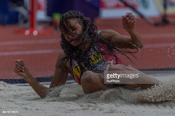 Nafissatou ThiamBelgium at long jump during Pentathlon for women at European athletics indoor championships in Belgrade on March 3 2017
