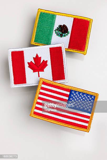 Nafta countries flag patch.