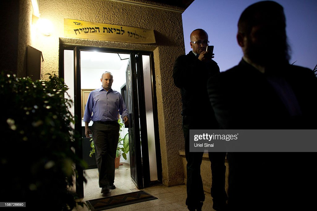 Naftali Bennett Head of HaBayit HaYehudi Party, the Jewish Home party, walks during a campaign tour on December 26, 2012 in Tel Aviv, Israel. The religious Jewish Home party (HaBayit HaYehudi) led by Naftali Bennett, are mounting a strong challenge for the right wing vote from Benjamin Netanyahu's Likud party as Israel heads for a general election on January 22.