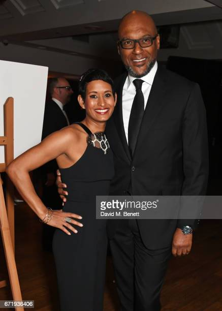 Naga Munchetty and Colin Salmon attend the British Academy Television Craft Awards at The Brewery on April 23 2017 in London United Kingdom