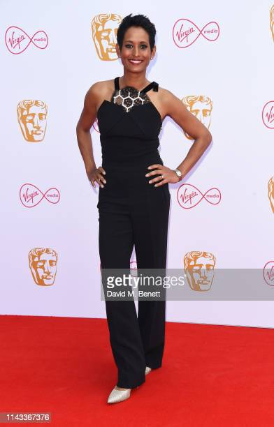 Naga Munchetty attends the Virgin Media British Academy Television Awards at The Royal Festival Hall on May 12 2019 in London England