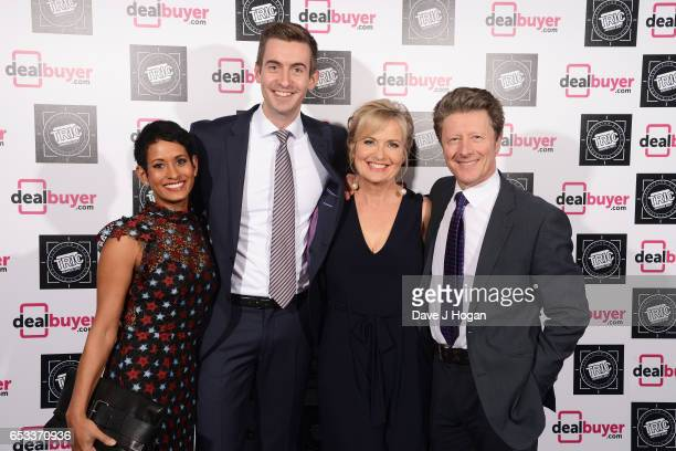 Naga Munchetty Ben Thompson Carol Kirkwood and Charlie Stayt attend the TRIC Awards 2017 at The Grosvenor House Hotel on March 14 2017 in London...